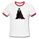 """Tall Darth and Handsome"" - Men's American Apparel Shirt white/red / S - LabRatGifts - 2"
