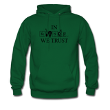 """In Science We Trust"" (black) - Men's Sweatshirt forest green / S - LabRatGifts - 8"