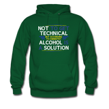 """Technically Alcohol is a Solution"" - Men's Sweatshirt forest green / S - LabRatGifts - 4"