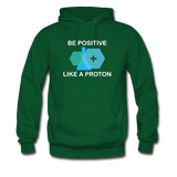"""Be Positive"" (white) - Men's Sweatshirt forest green / S - LabRatGifts - 3"