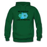 """Be Positive"" (black) - Men's Sweatshirt forest green / S - LabRatGifts - 8"