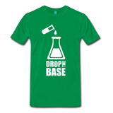 """Drop the Base"" (white) - Men's T-Shirt kelly green / S - LabRatGifts - 2"