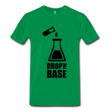 """Drop the Base"" (black) - Men's T-Shirt kelly green / S - LabRatGifts - 2"