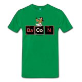 """BaCoN Periodic Table"" - Men's T-Shirt kelly green / S - LabRatGifts - 12"