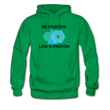 """Be Positive"" (black) - Men's Sweatshirt kelly green / S - LabRatGifts - 7"