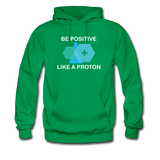 """Be Positive"" (white) - Men's Sweatshirt kelly green / S - LabRatGifts - 6"