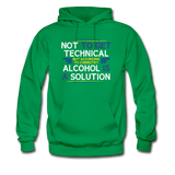 """Technically Alcohol is a Solution"" - Men's Sweatshirt kelly green / S - LabRatGifts - 2"