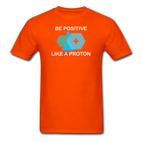 """Be Positive"" (white) - Men's T-Shirt orange / S - LabRatGifts - 10"