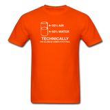 """Technically the Glass is Full"" - Men's T-Shirt orange / S - LabRatGifts - 10"