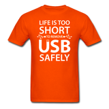 """Life is too Short"" (white) - Men's T-Shirt orange / S - LabRatGifts - 11"