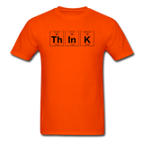 """ThInK"" (black) - Men's T-Shirt orange / S - LabRatGifts - 6"