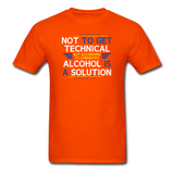 """Technically Alcohol is a Solution"" - Men's T-Shirt orange / S - LabRatGifts - 10"