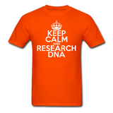 """Keep Calm and Research DNA"" (white) - Men's T-Shirt orange / S - LabRatGifts - 5"