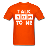 """Talk NErDy To Me"" (white) - Men's T-Shirt orange / S - LabRatGifts - 13"