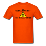 """My Radioactive Cat has 18 Half-Lives"" - Men's T-Shirt orange / S - LabRatGifts - 3"
