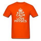 """Keep Calm and Love Physics"" (white) - Men's T-Shirt orange / S - LabRatGifts - 5"