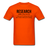"""Research"" (black) - Men's T-Shirt orange / S - LabRatGifts - 9"