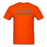"""-273.15 ºC is the Coolest"" (gray) - Men's T-Shirt orange / S - LabRatGifts - 8"
