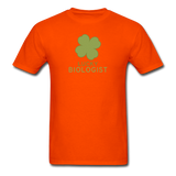 """Lucky Biologist"" - Men's T-Shirt orange / S - LabRatGifts - 3"