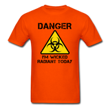 """Danger I'm Wicked Radiant Today"" - Men's T-Shirt orange / S - LabRatGifts - 3"