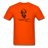 """Albert Einstein: T-Shirts Quote"" - Men's T-Shirt orange / S - LabRatGifts - 10"