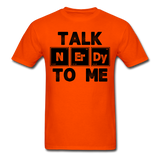 """Talk NErDy To Me"" (black) - Men's T-Shirt orange / S - LabRatGifts - 3"
