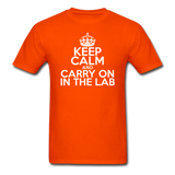 """Keep Calm and Carry On in the Lab"" (white) - Men's T-Shirt orange / S - LabRatGifts - 5"