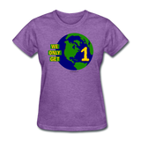 """We Only Get 1 Earth"" - Women's T-Shirt - purple heather"