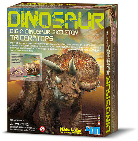 """Dig A Dinosaur Skeleton: Triceratops"" - Science Kit  - LabRatGifts - 1"