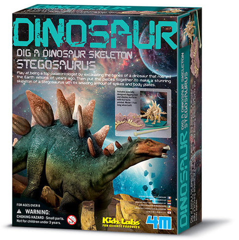 """Dig A Dinosaur Skeleton: Stegosaurus"" - Science Kit  - LabRatGifts - 1"