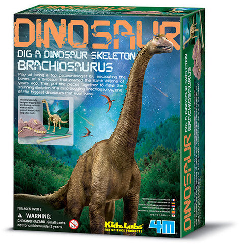"""Dig A Dinosaur Skeleton: Brachiosaurus"" - Science Kit  - LabRatGifts - 1"