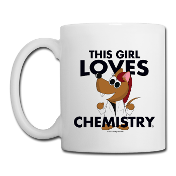 """This Girl Loves Chemistry"" (red) - Mug white / One size - LabRatGifts"