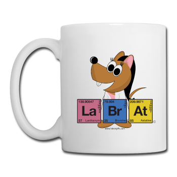 """Lab Rat Periodic Table"" (brunette) - Mug white / One size - LabRatGifts"