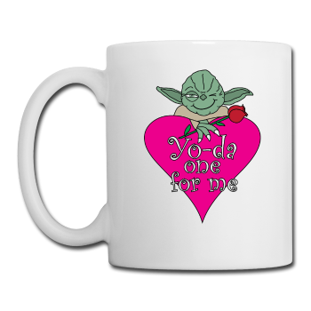 """Yo-da one for me"" - Mug white / One size - LabRatGifts"