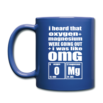 """OMG"" - Mug royal blue / One size - LabRatGifts - 1"