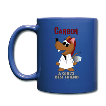 """Carbon, A Girl's Best Friend"" - Mug royal blue / One size - LabRatGifts - 1"