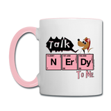 """Talk NErDy to Me"" (Flirty the Rat) - Mug white/pink / One size - LabRatGifts - 1"