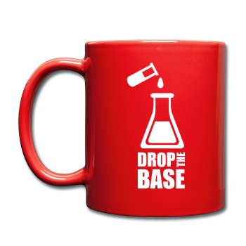 """Drop the Base"" - Mug red / One size - LabRatGifts - 1"