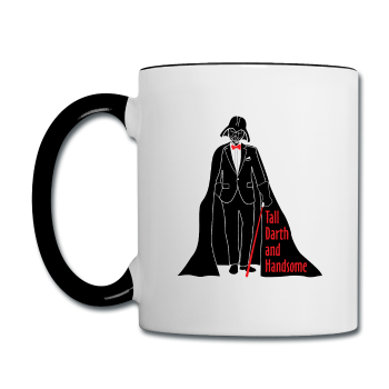 """Tall Darth and Handsome"" - Mug white/black / One size - LabRatGifts - 1"