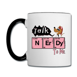 """Talk NErDy to Me"" (Flirty the Rat) - Mug white/black / One size - LabRatGifts - 2"
