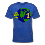 """We Only Get 1 Earth"" - Men's T-Shirt - mineral royal"