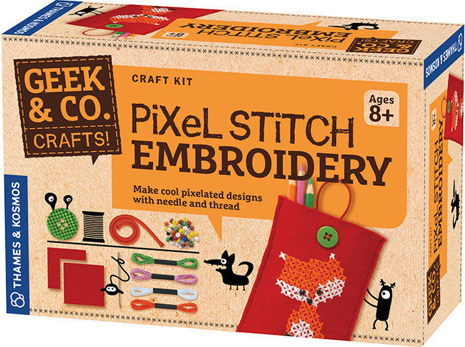 """Pixel Stitch Embroidery"" - Craft Kit  - LabRatGifts - 1"