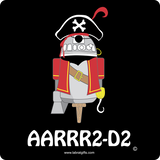 """AARRR2-D2"" - Baby Short Sleeve One Piece  - LabRatGifts - 5"