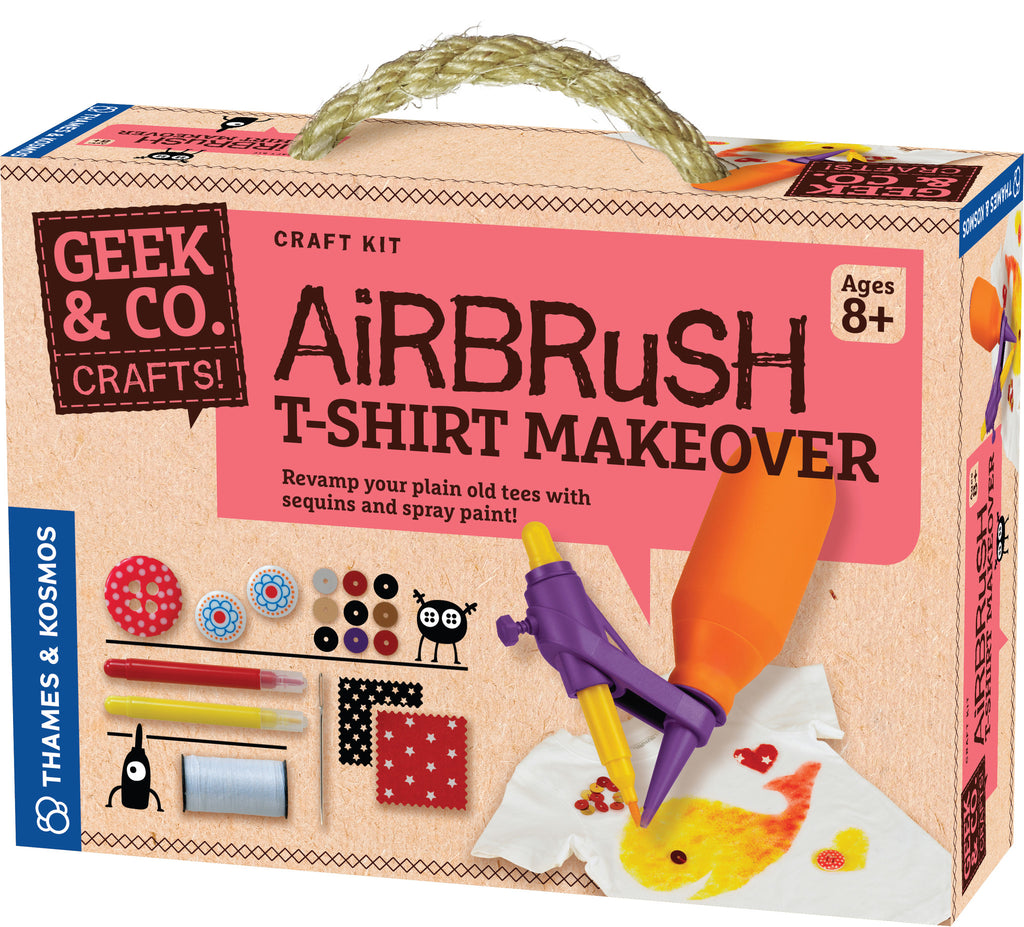 """Airbrush T-Shirt Makeover"" - Craft Kit  - LabRatGifts - 1"