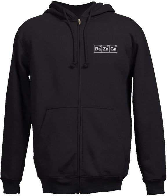 """BaZnGa"" - Men's Zip-Up Hoodie Small - LabRatGifts"