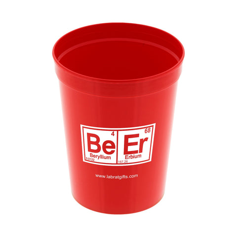 BeEr 16oz Red Stadium Cup  - LabRatGifts