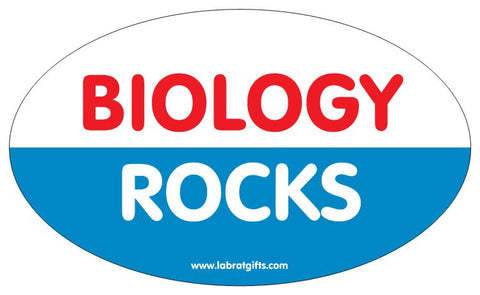 """Biology Rocks"" - Oval Sticker Default Title - LabRatGifts"