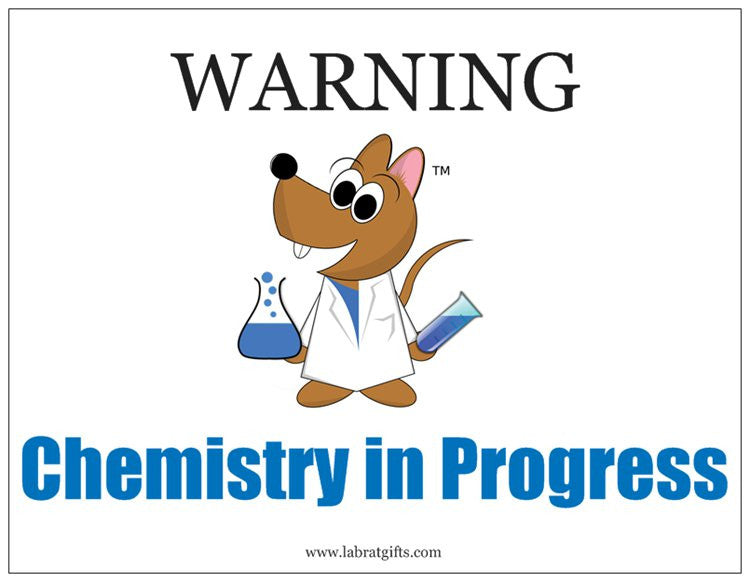 """WARNING Chemistry in Progress"" - Magnet Default Title - LabRatGifts"