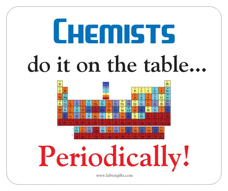 """Chemists do it on the Table"" - Mouse Pad Default Title - LabRatGifts"