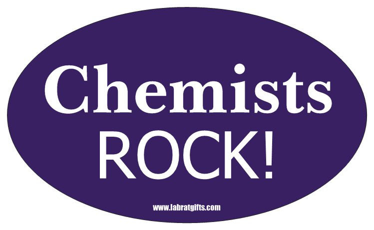 """Chemists Rock"" - Oval Sticker Default Title - LabRatGifts"
